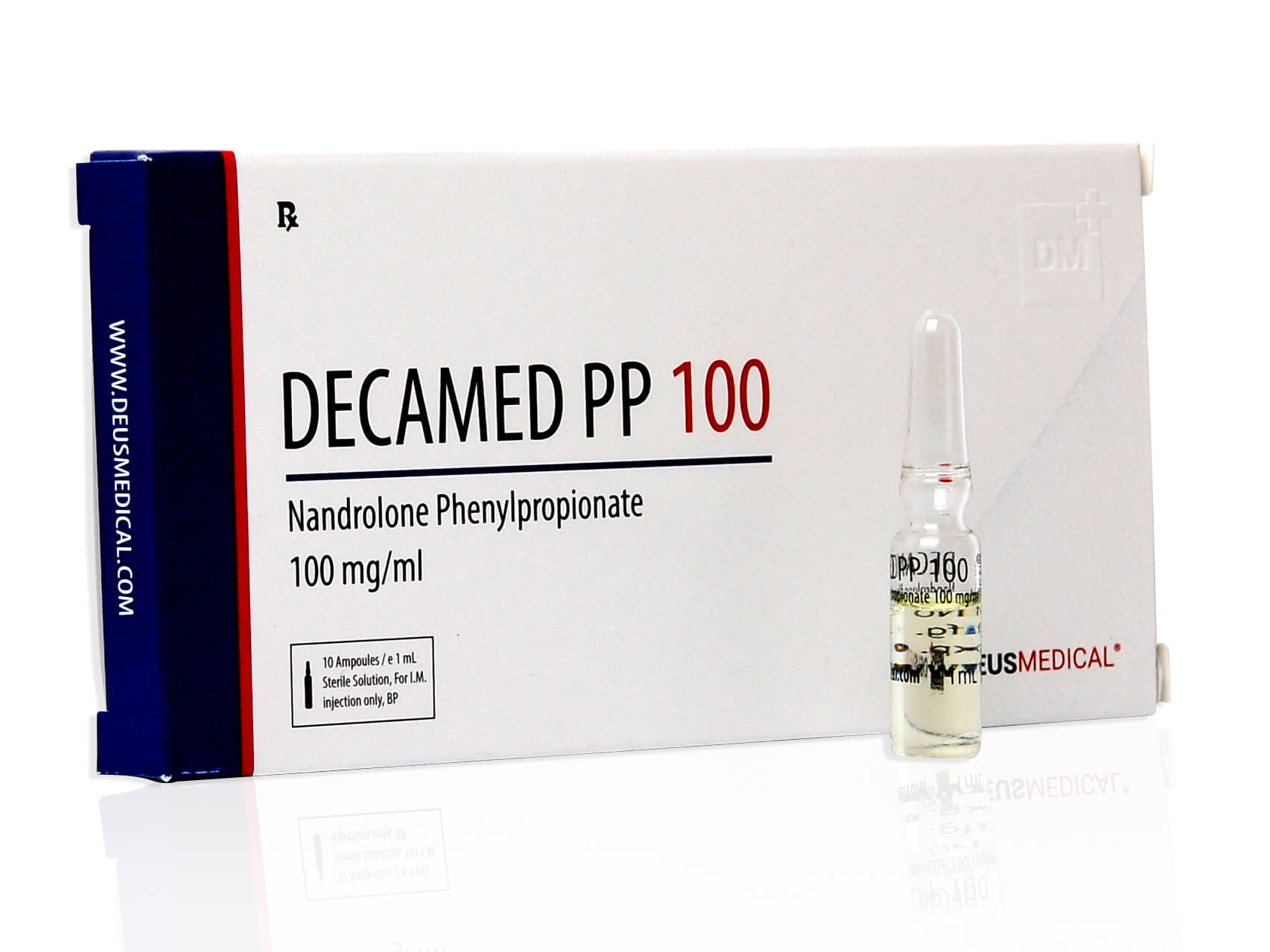 DECAMED PP 100 (Nandrolone Phenylpropionate) - 10amps of 1ml - DEUS-MEDICAL - body-building